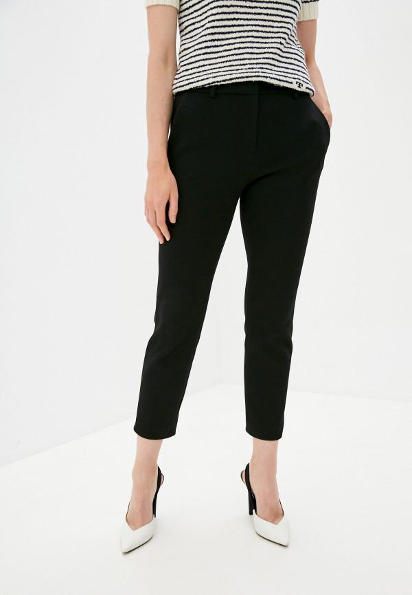 женские повседневные брюки theory, черные