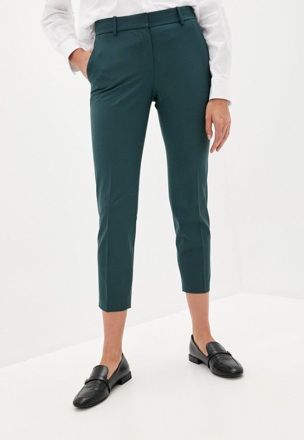 женские повседневные брюки theory, зеленые