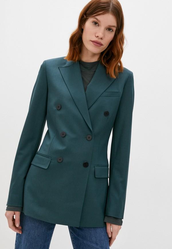 женский пиджак theory, зеленый