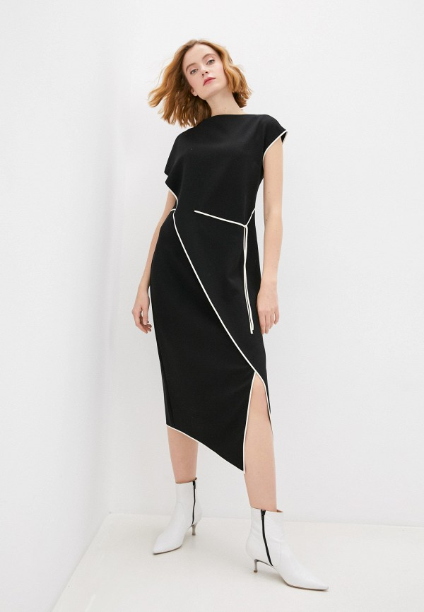 женское повседневные платье theory, черное