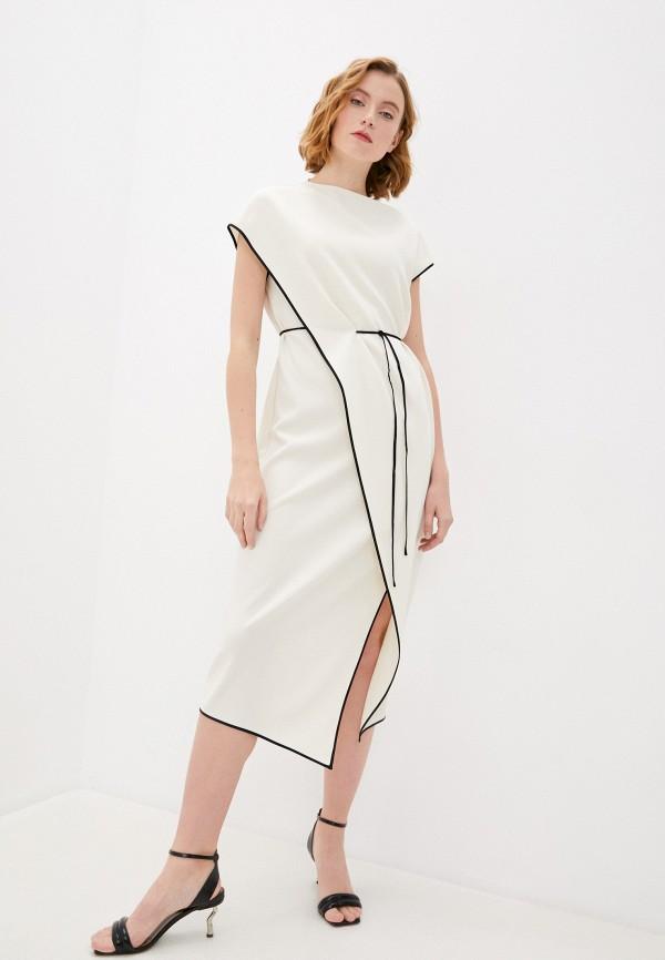 женское повседневные платье theory, белое