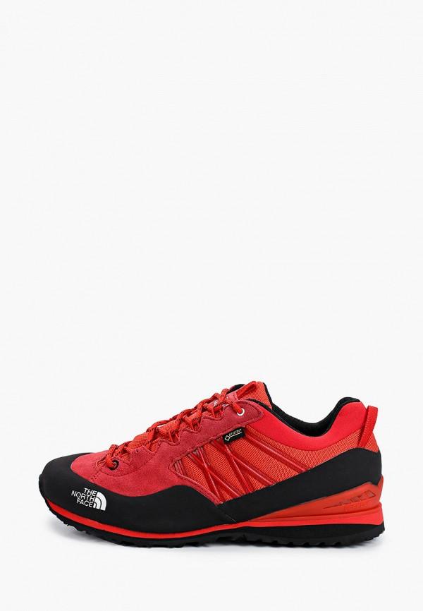 мужские ботинки the north face, красные