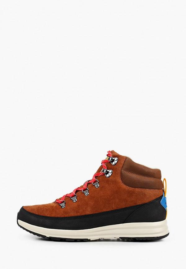 мужские высокие ботинки the north face, коричневые