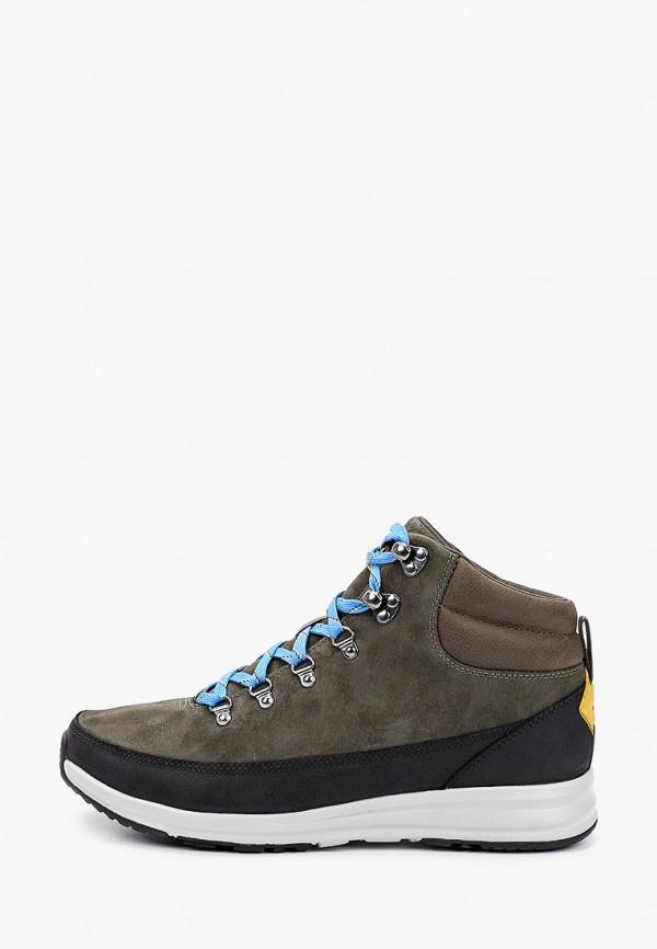мужские высокие ботинки the north face, серые