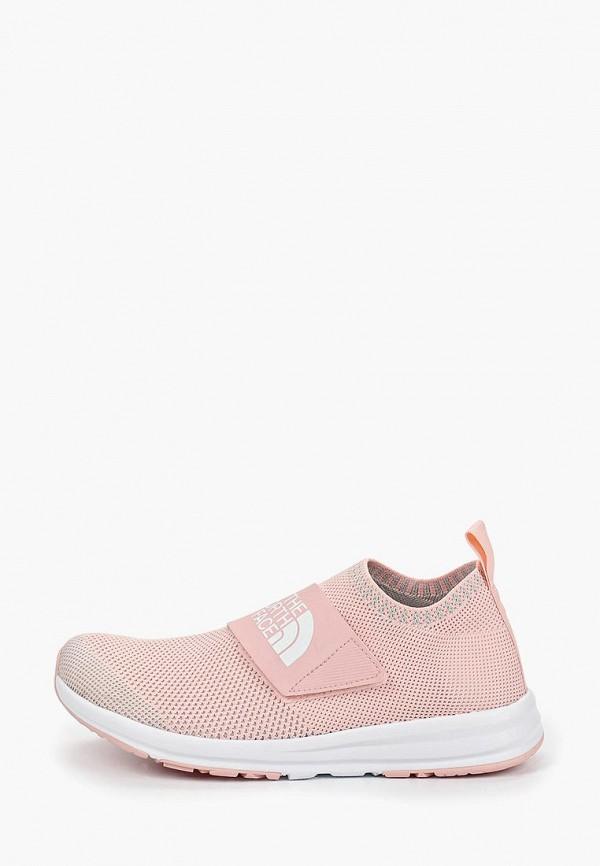 женские кроссовки the north face, розовые