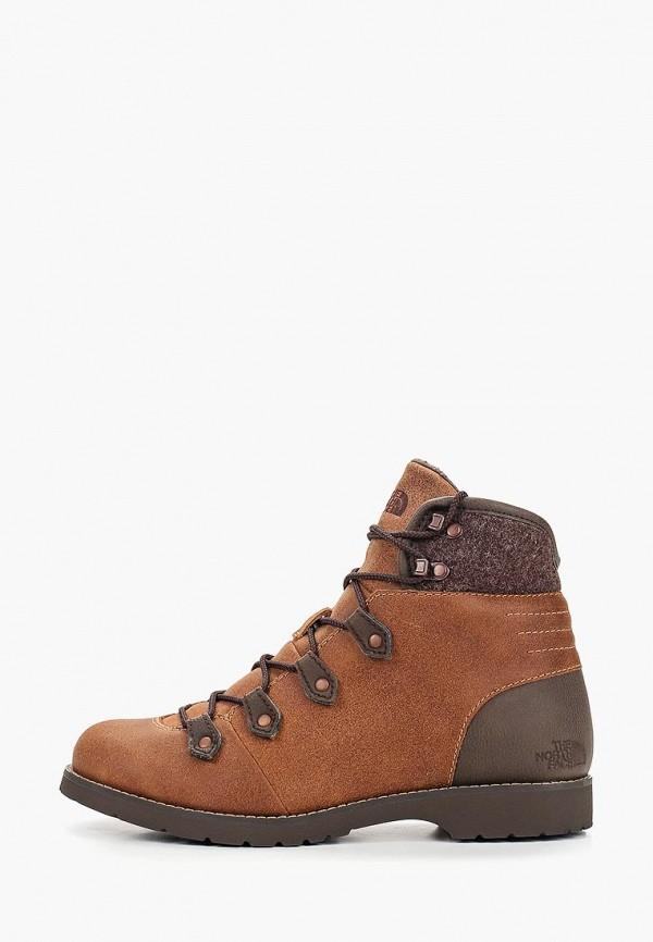 женские ботинки the north face, коричневые