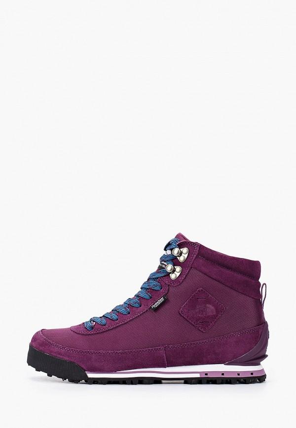 женские ботинки the north face, фиолетовые