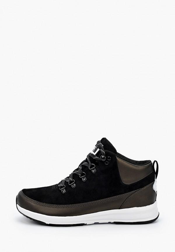 женские высокие ботинки the north face, черные
