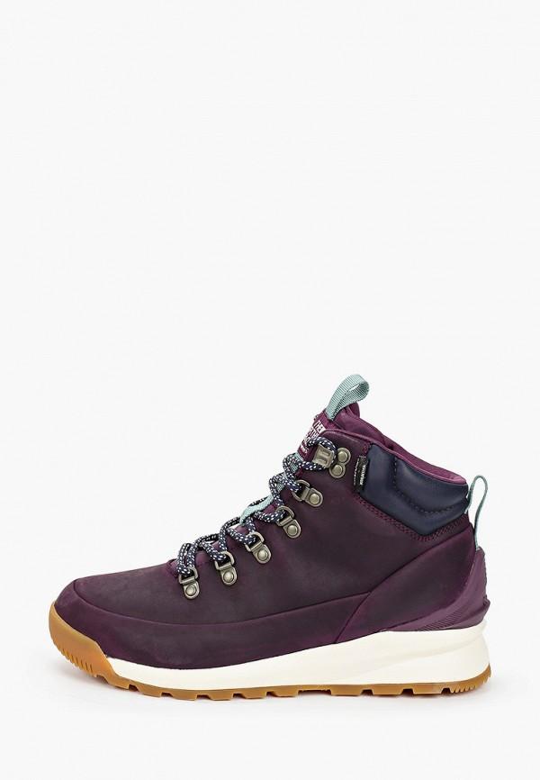 женские высокие ботинки the north face, фиолетовые