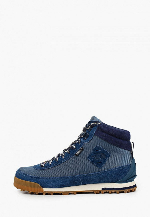 женские высокие ботинки the north face, синие