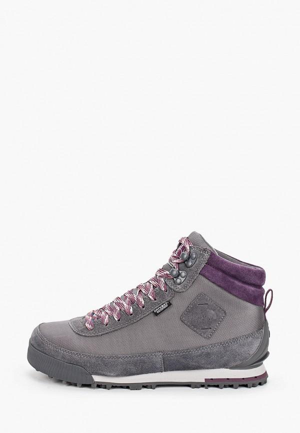 женские высокие ботинки the north face, серые