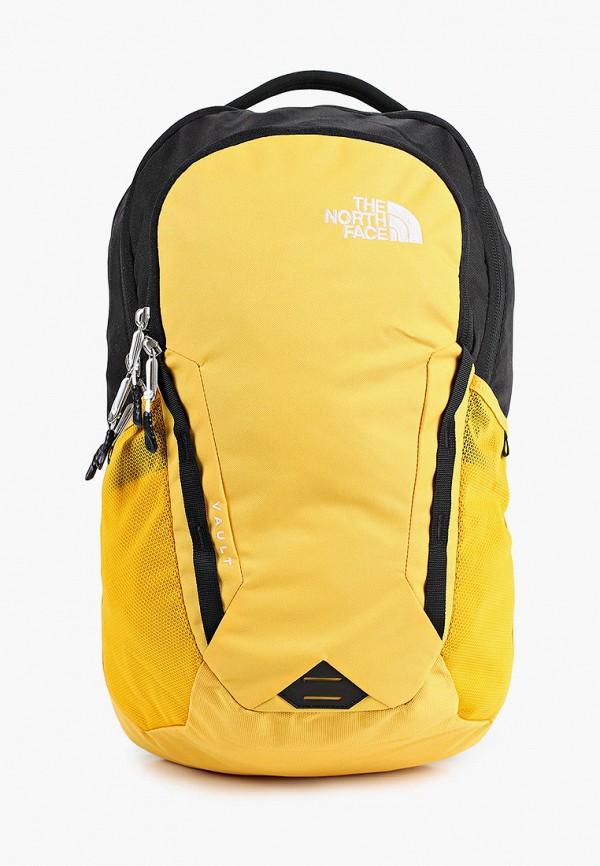 женский рюкзак the north face, желтый