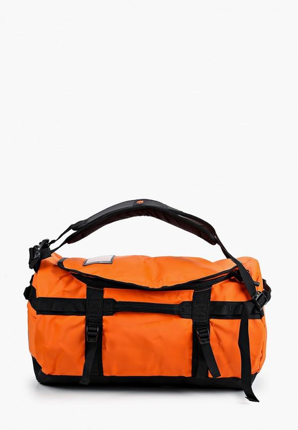 женская спортивные сумка the north face, оранжевая