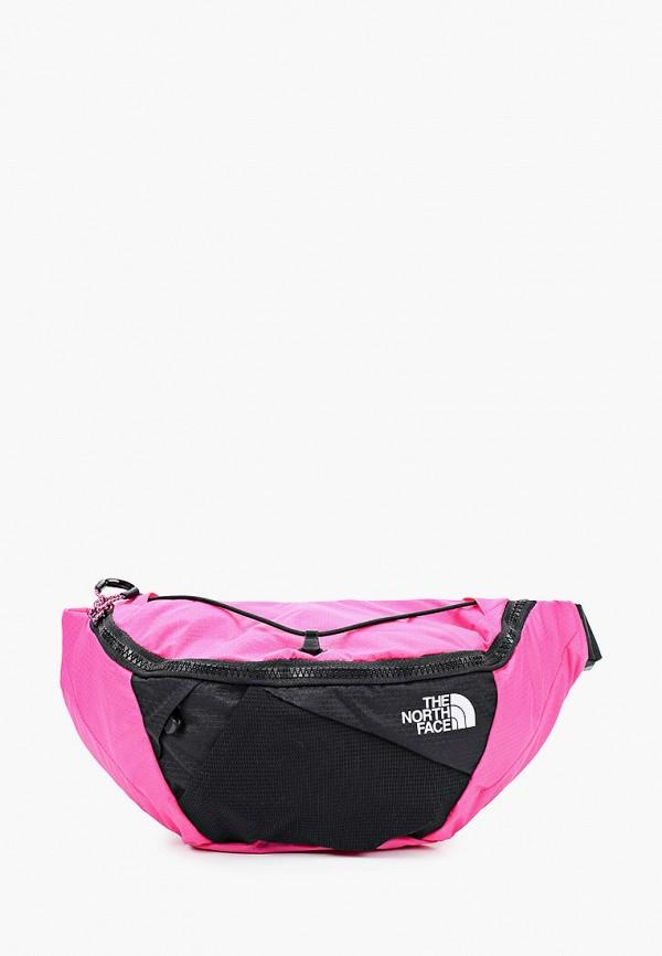 женская поясные сумка the north face, розовая