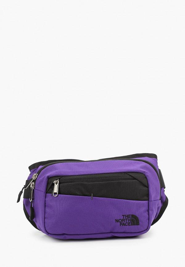 женская сумка the north face, фиолетовая
