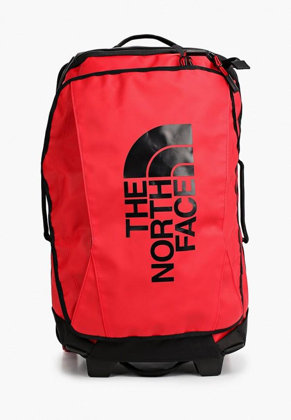 женский чемодан the north face, красный