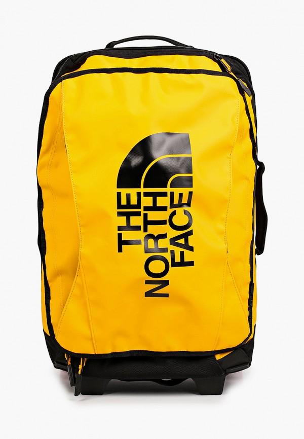 женский чемодан the north face, желтый
