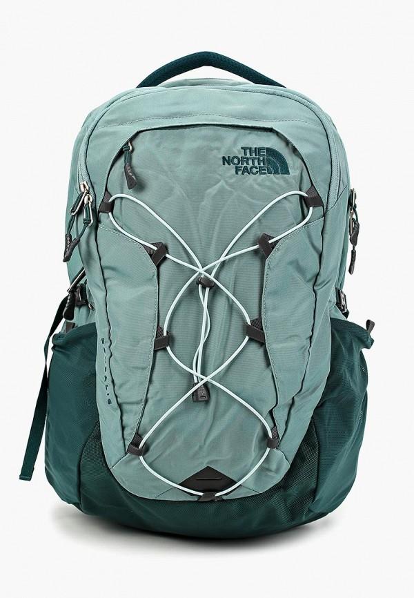 женский рюкзак the north face, зеленый