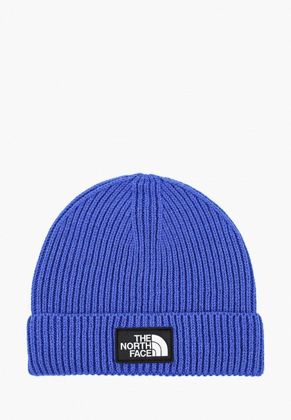 шапка the north face для мальчика, синяя
