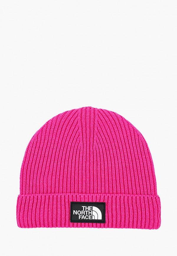 шапка the north face для девочки, розовая
