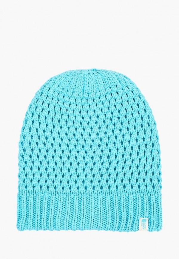 женская шапка the north face, голубая