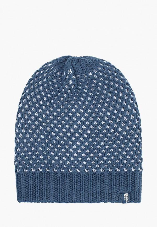 женская шапка the north face, синяя