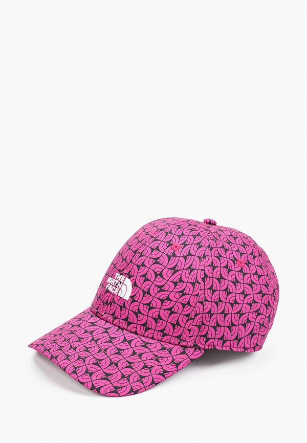 женская бейсболка the north face, розовая