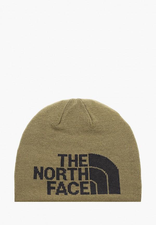 женская шапка the north face, хаки