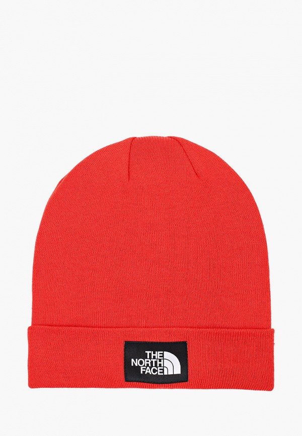 женская шапка the north face, красная