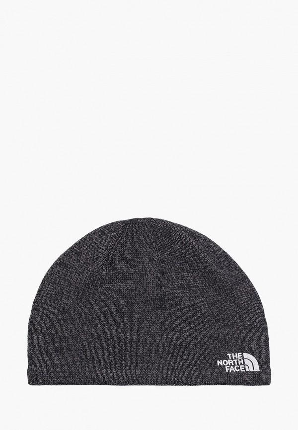 женская шапка the north face, серая