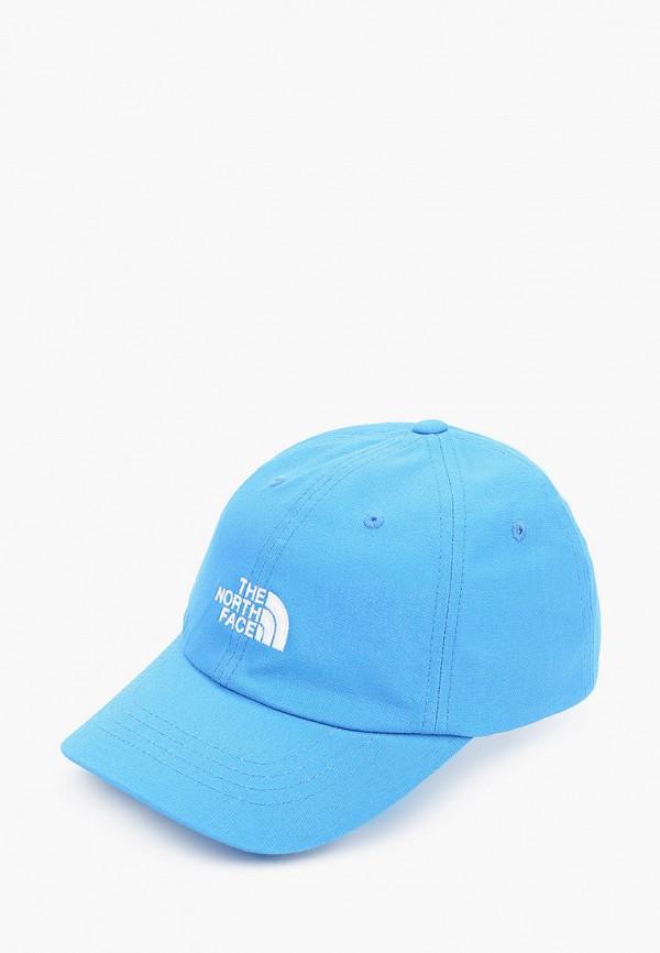 женская бейсболка the north face, синяя
