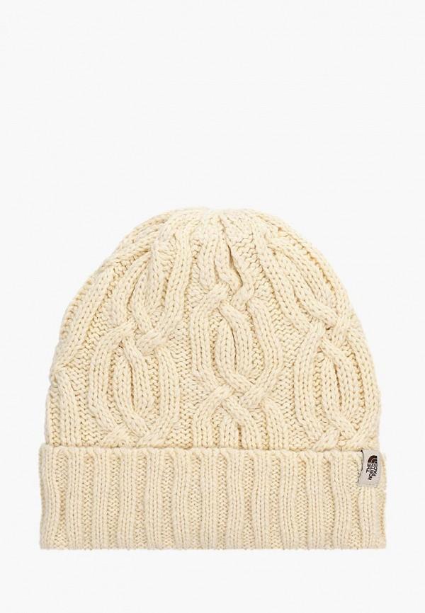 женская шапка the north face, белая