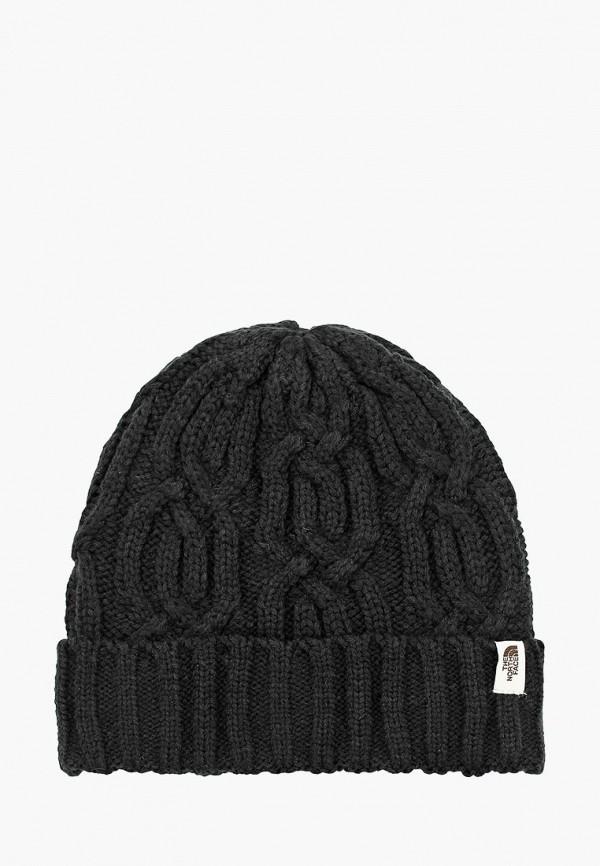 женская шапка the north face, черная