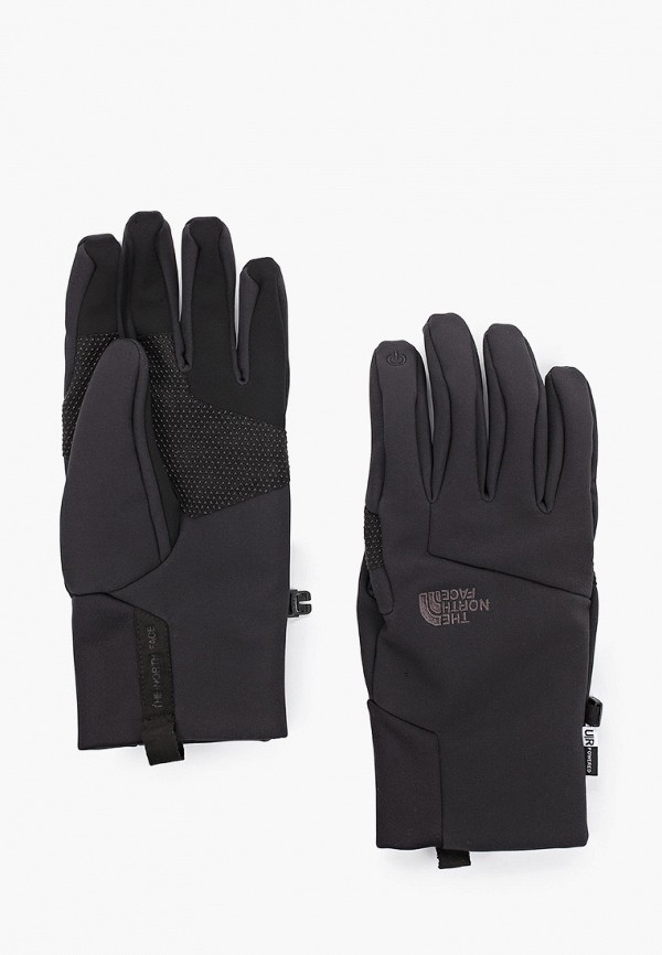мужские текстильные перчатки the north face, черные