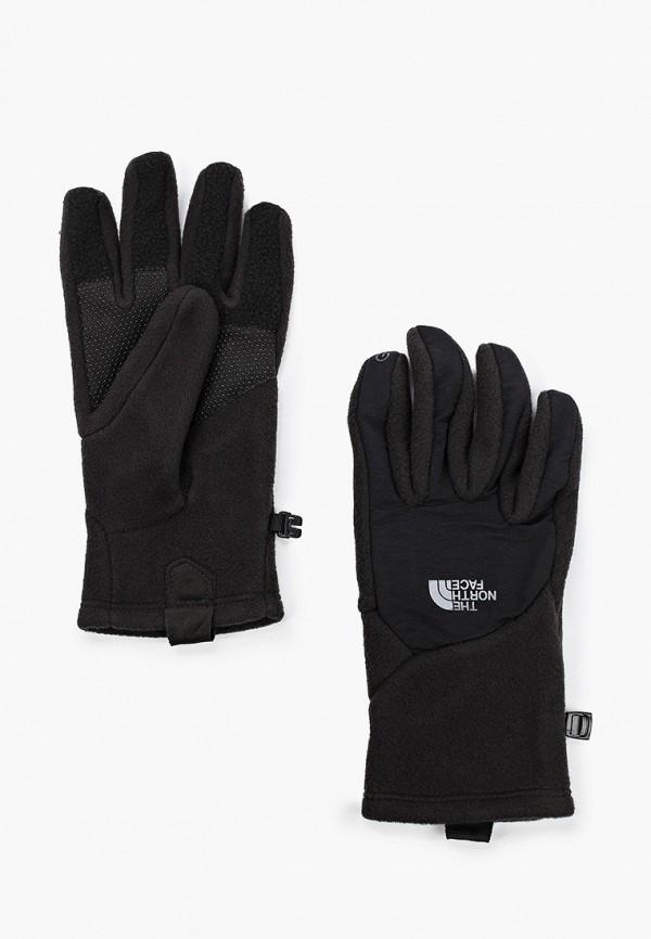 женские текстильные перчатки the north face, черные