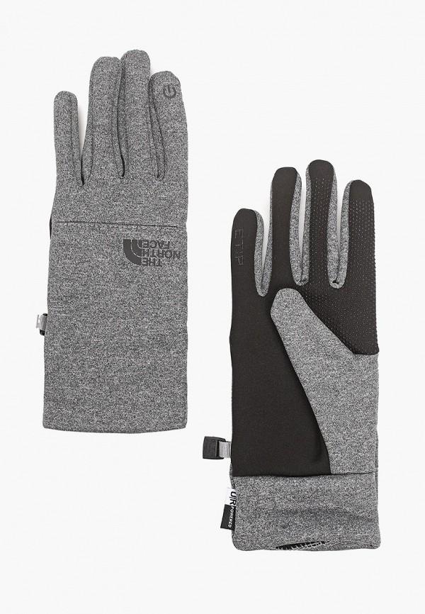 женские перчатки the north face, серые