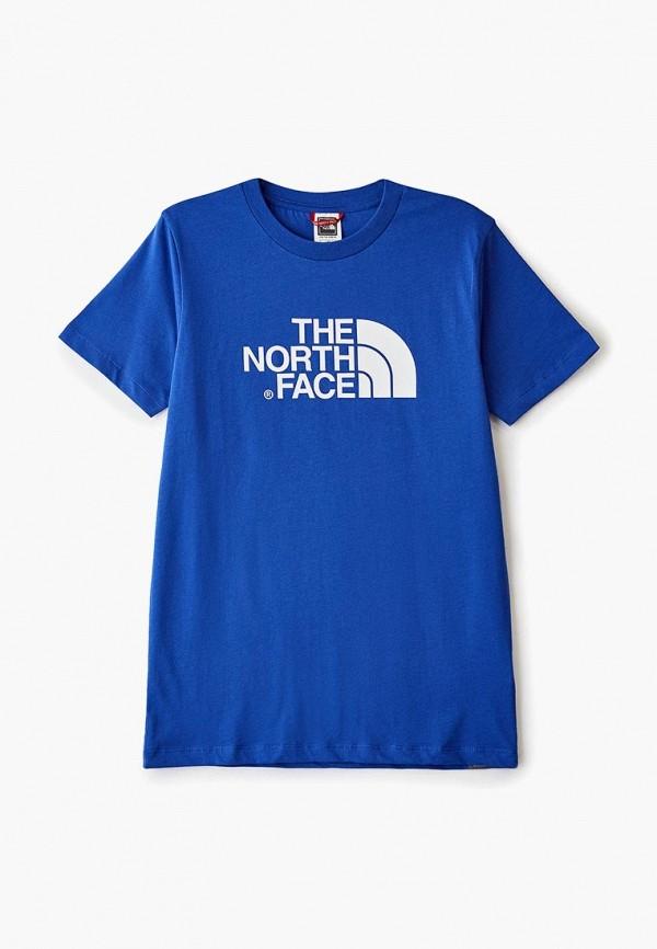футболка the north face для мальчика, синяя