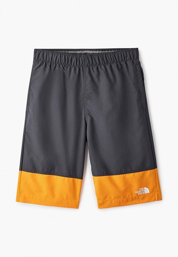 спортивные шорты the north face для мальчика, серые