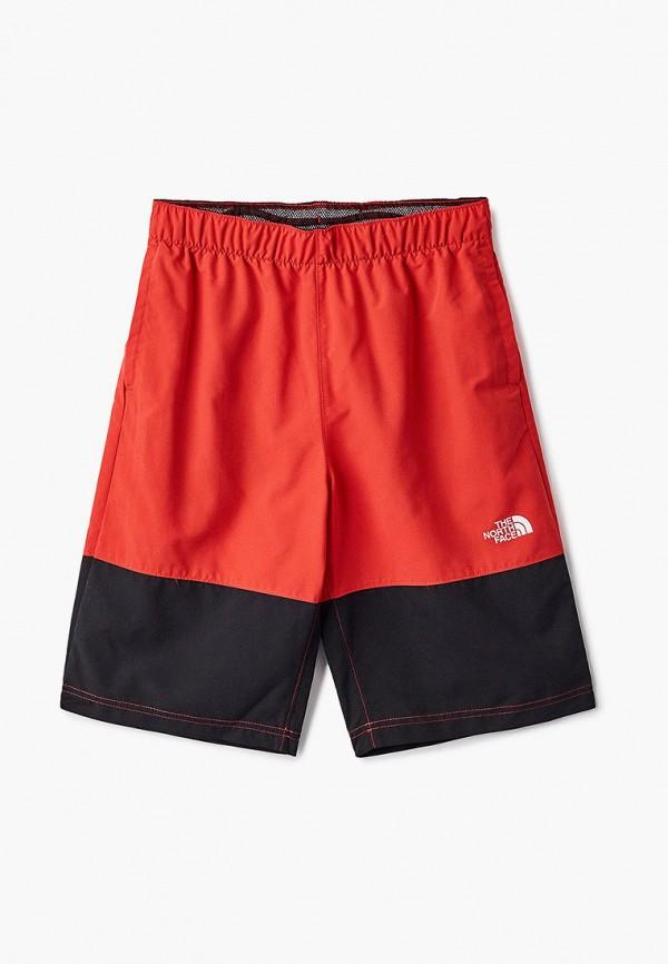 спортивные шорты the north face для мальчика, красные