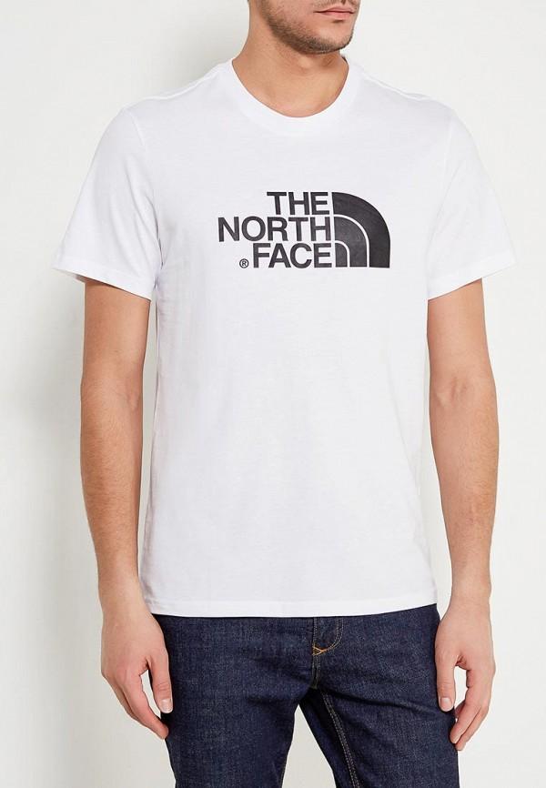 мужская спортивные футболка the north face, белая