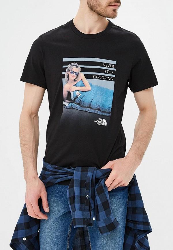 мужская футболка the north face, черная