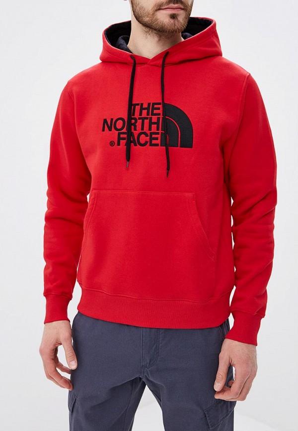 мужские худи the north face, красные