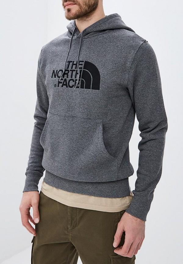 мужские худи the north face, серые
