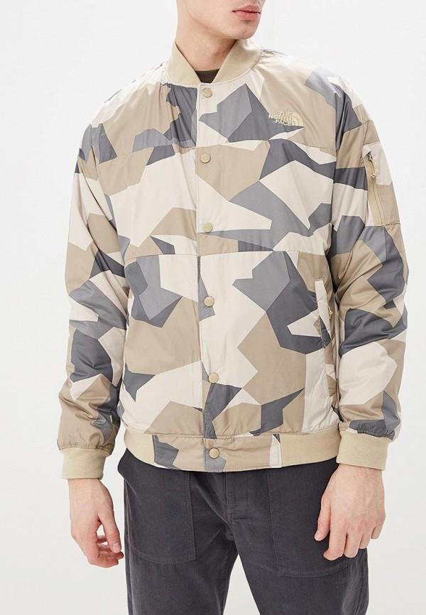 мужская куртка the north face, бежевая