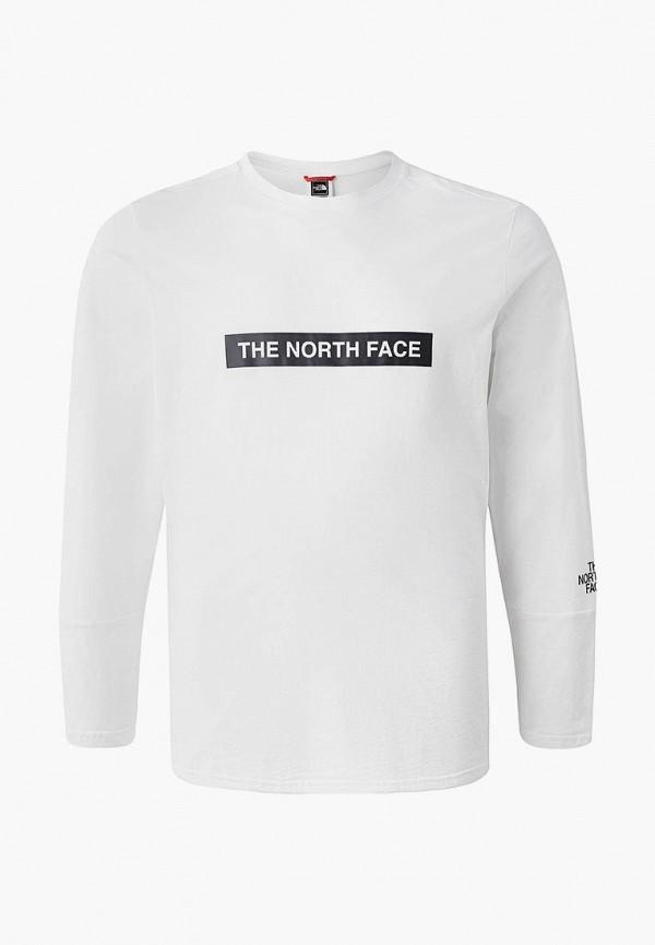мужской лонгслив the north face, белый