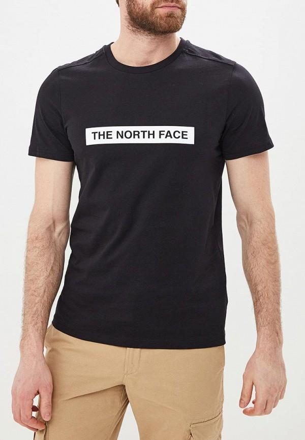 мужская спортивные футболка the north face, черная