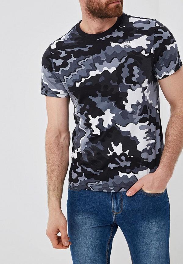 мужская спортивные футболка the north face, серая