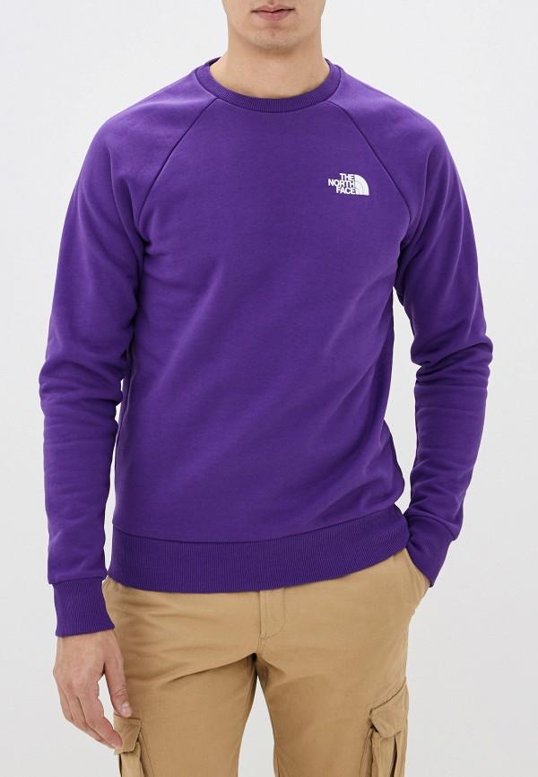 мужской свитшот the north face, фиолетовый