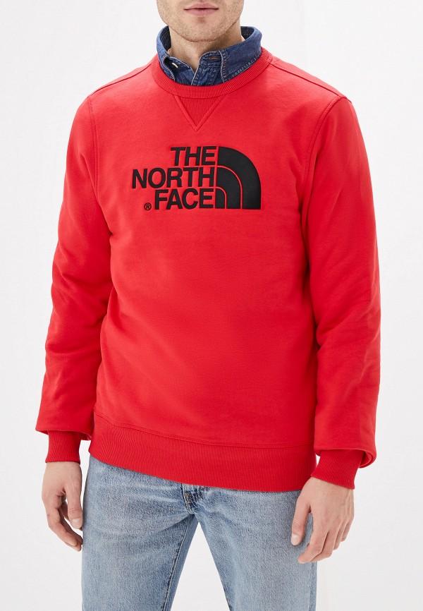 мужской свитшот the north face, красный