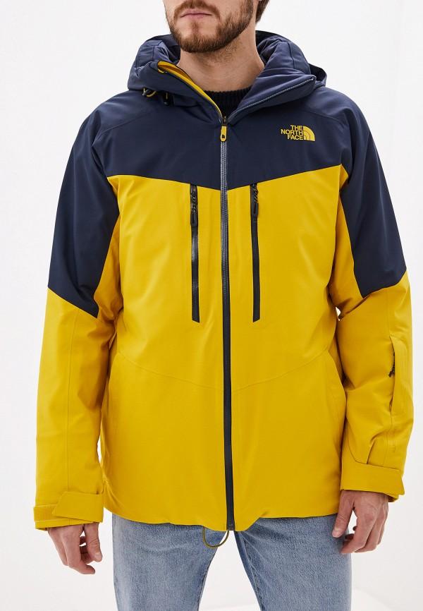 мужская куртка the north face, желтая